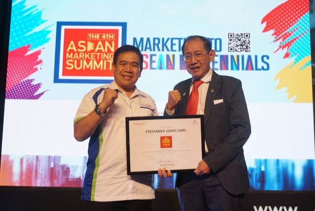 Pertamina Lubricants Raih Penghargaan di The 4th ASEAN Marketing Summit 2018