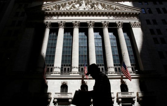 Bursa saham AS di Wall Street.
