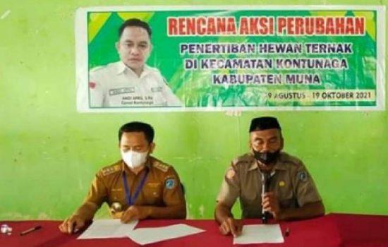 Camat Kontunaga, Andi April (Foto: Zainal Arifin)